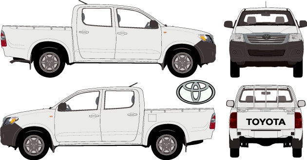 Toyota Hilux 2013 Double Cab -- WorkMate Pickup Ute