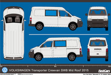 Load image into Gallery viewer, Volkswagen Transporter 2015 Crewvan SWB -- Mid Roof