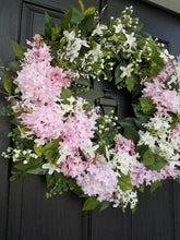 Load image into Gallery viewer, Summer floral wreath perfect for Mothers Day gift. Frontdoor wreath. Summer wreath.  Summer decor. Front door decor. Mothers day. Housewarming