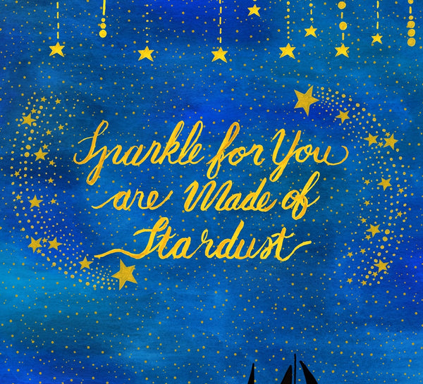 'Sparkle for You are Made of Stardust' Nursery Art Print