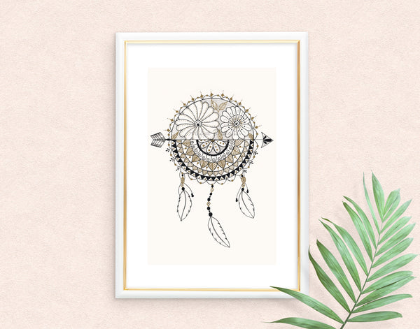 Dreamcatcher Mandala Art Print