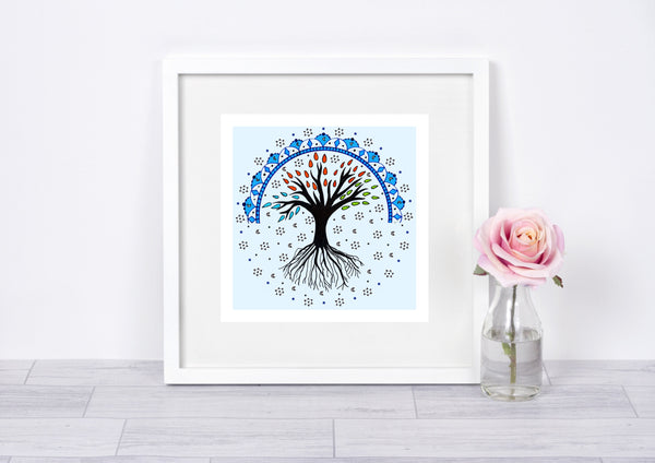 Tree of Life Art Print, Mandala Art Print, Nature Print, Geometric Print, Zen Art, Wall Art, Home Decor, Mandala Wall Decor, Spiritual Decor