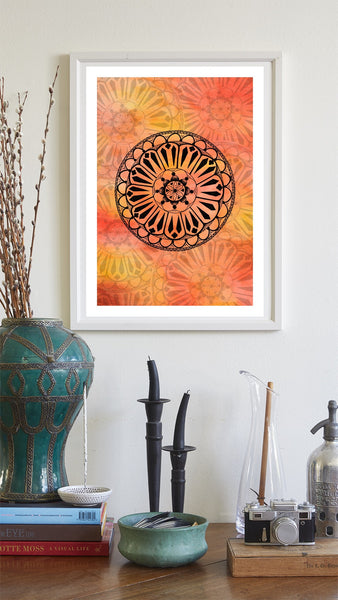 Colourful Mandala Art Print