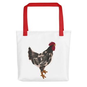 Rooster Watercolour Tote Bag