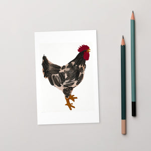 Watercolour Rooster Postcard