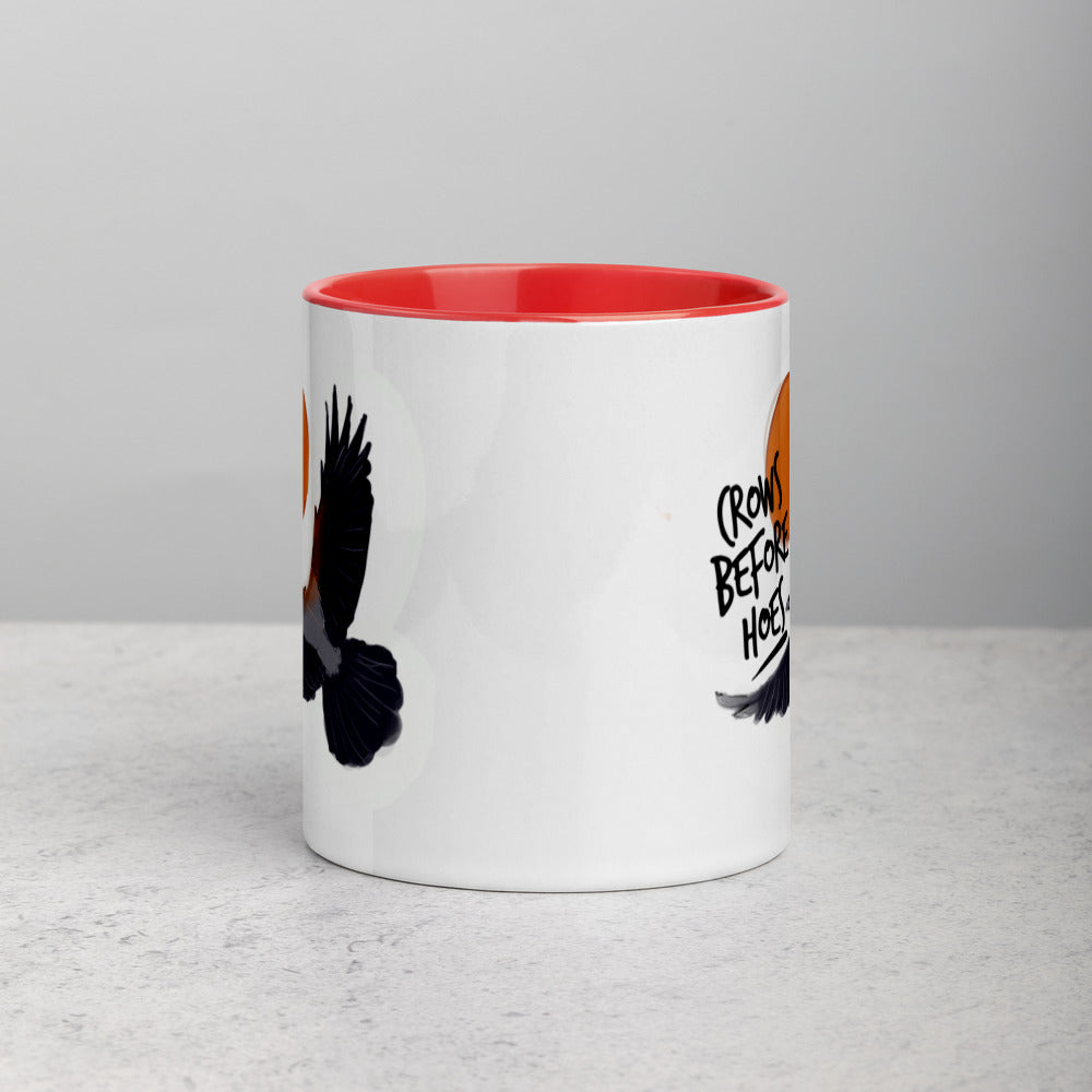 """Crows Before"" Mug with Color Inside"