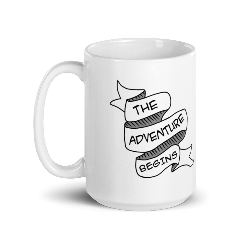The Adventure Begins White Mug (Critical Role/Dungeons and Dragons Inspired)