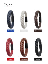 Load image into Gallery viewer, Outdoor Portable Leather Mini Type-C/8Pin/Micro USB Bracelet Charger Data Charging Cable Sync Cord For Iphone X 8 Samsung S9 S8