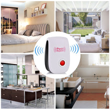 Load image into Gallery viewer, 1pc Blue/Red Light Ultrasonic Pest Repeller Pest Reject Control Electronic Mosquito Repellent Household Insect Repellent