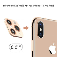 Load image into Gallery viewer, Anti-Scratch Modified Metal Sticker Seconds Change Camera Lens Cover For iPhone X XS XR MAX Fake Camera For iPhone 11 Pro Max