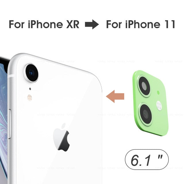 Anti-Scratch Modified Metal Sticker Seconds Change Camera Lens Cover For iPhone X XS XR MAX Fake Camera For iPhone 11 Pro Max