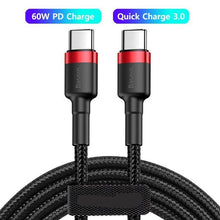 Load image into Gallery viewer, 100W USB C To USB Type C Cable USBC PD Fast Charger Cord USB-C Type-c Cable For Xiaomi mi 10 Pro Samsung S20 Macbook iPad
