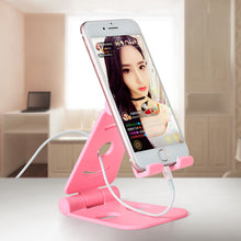 Load image into Gallery viewer, NEW Universal Adjustable Mobile Phone Holder for iPhone Huawei Xiaomi Plastic Phone Stand Desk Tablet Folding Stand Desktop