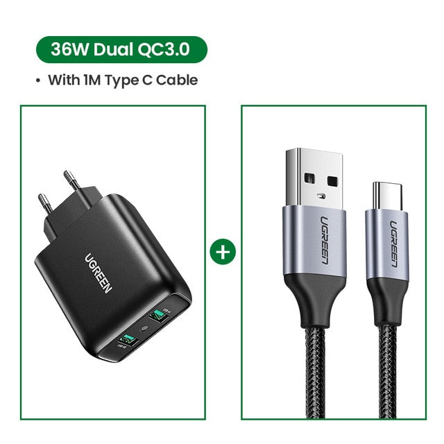 USB Charger Quick Charge 3.0 36W Fast Charger Adapter QC3.0 Mobile Phone Chargers for iPhone Samsung Xiaomi Redmi Charger