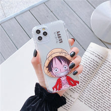 Load image into Gallery viewer, Anime Classic Japan One Piece straw hat Luffy Zoro case for iphone 12 11 Pro Max X XS XR 6 6s 7 8 plus Clear soft TPU Cover