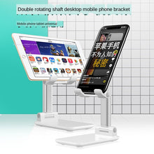 Load image into Gallery viewer, Universal Desktop Mobile Phone Holder Stand for iPhone iPad Adjustable Metal Tablet Foldable Table Cell Phone Stand Holder