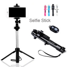 Load image into Gallery viewer, 3 in 1 Bluetooth Selfie Stick Tripod Extendable Monopod For iPhone XR X 7 6s Plus For Samsung For Huawei Universal Tripod