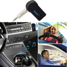 Load image into Gallery viewer, 2 in 1 Wireless Bluetooth Music Audio 5.0 Receiver 3.5mm Streaming Auto A2DP Headphone AUX Adapter Connector Mic Handfree Car PC