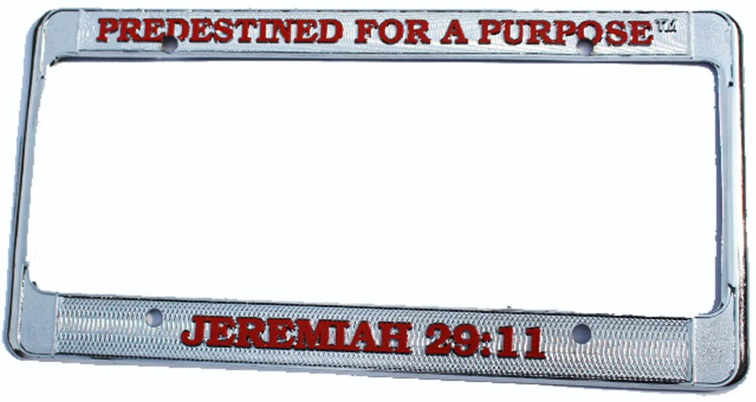 Predestined For A Purpose Jeremiah 29 11 Novelty License Plate Frame