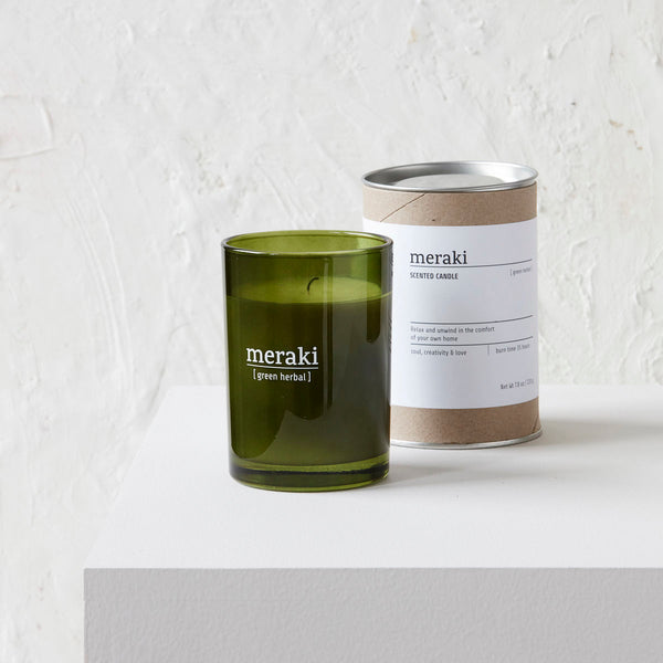 Green Herbal, Scented Candle