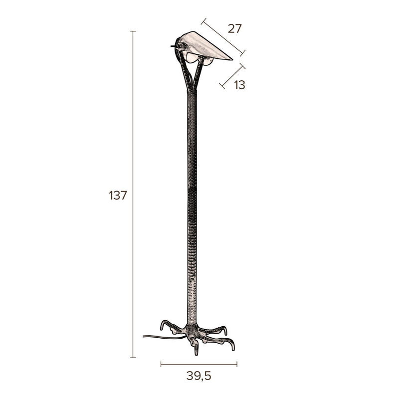 Falcon Floor Lamp, Black