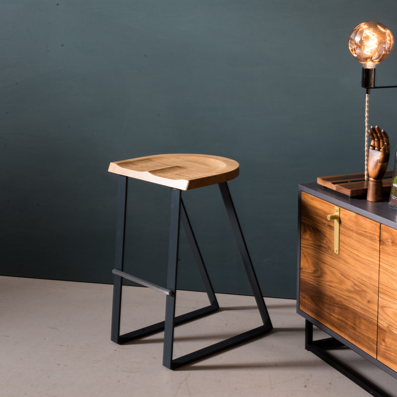 Oak Counter Stool, Angle