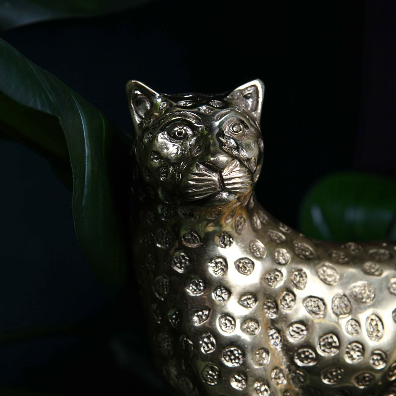 Brass Panther Statue