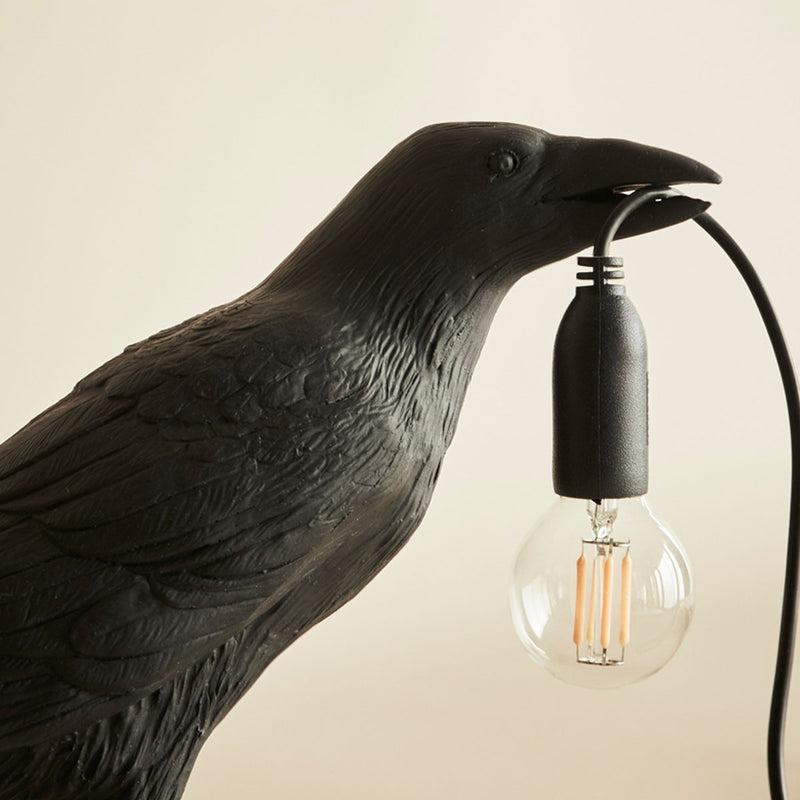 Bird Lamp, Black Waiting
