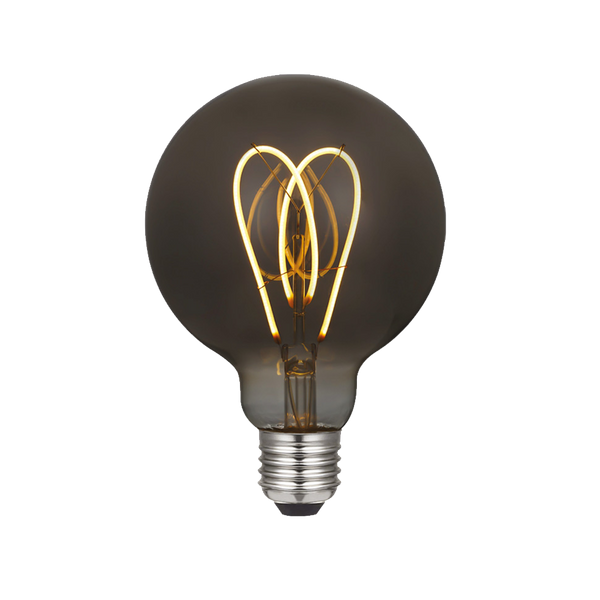 Smoky Curved Filament LED Bulb