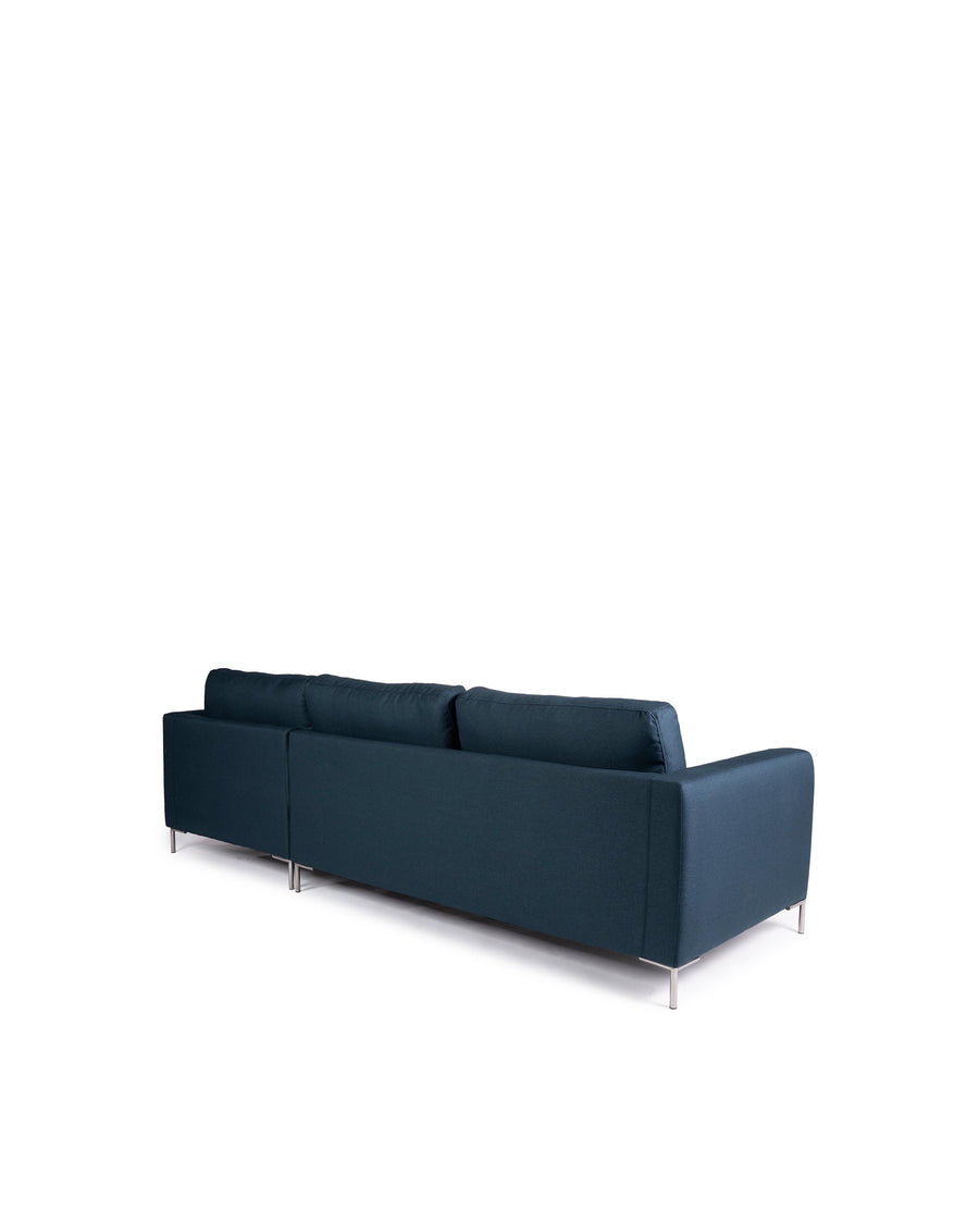 Modern Dark Blue Fabric Sectional Sofa | Assos | Back View | MoblerOnline