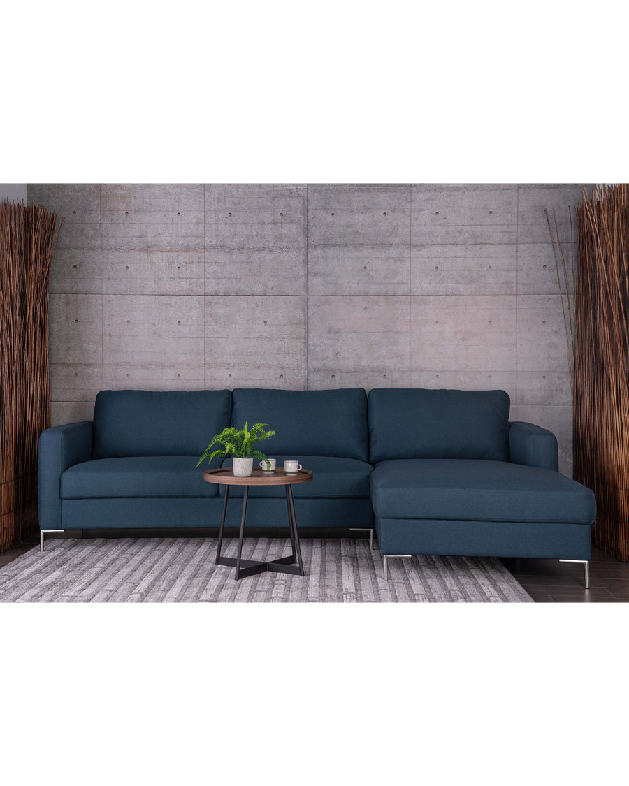 Modern Dark Blue Fabric Sectional Sofa | Assos | Studio | MoblerOnlineO