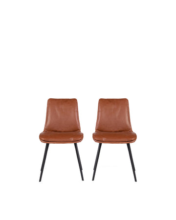 Ballarat | Dining Chair Brown (Set of 2)