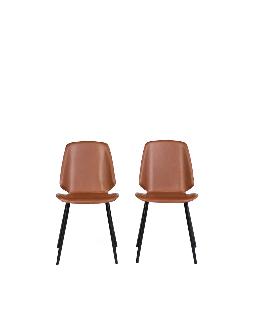 Brisbane | Dining Chair Brown (Set of 2)