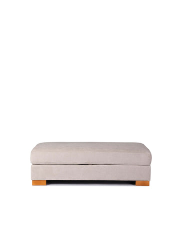 Fabric Lift Up Storage Ottoman | Corfu | Front View | MoblerOnline