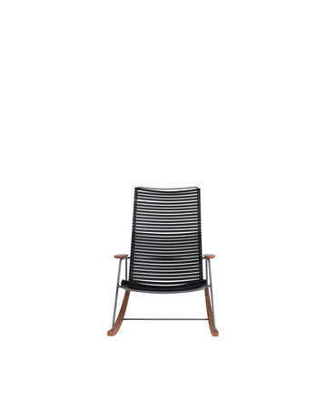 Black Modern Outdoor Patio Rocking Chair | Click | Front View | MoblerOnline