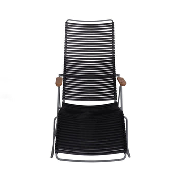 Black Modern Patio Sunlounger Chair | Click | Front View | MoblerOnline