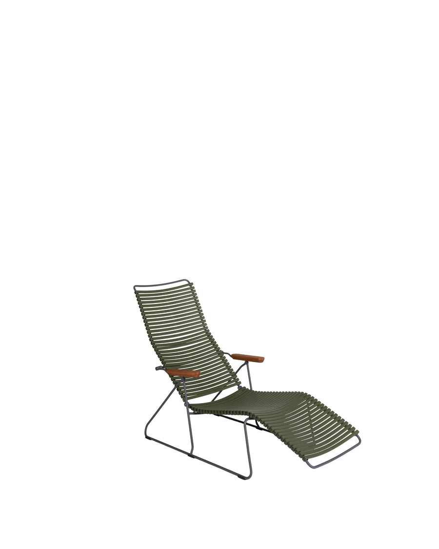 Green Modern Patio Sunlounger Chair | Click | Angle View | MoblerOnline