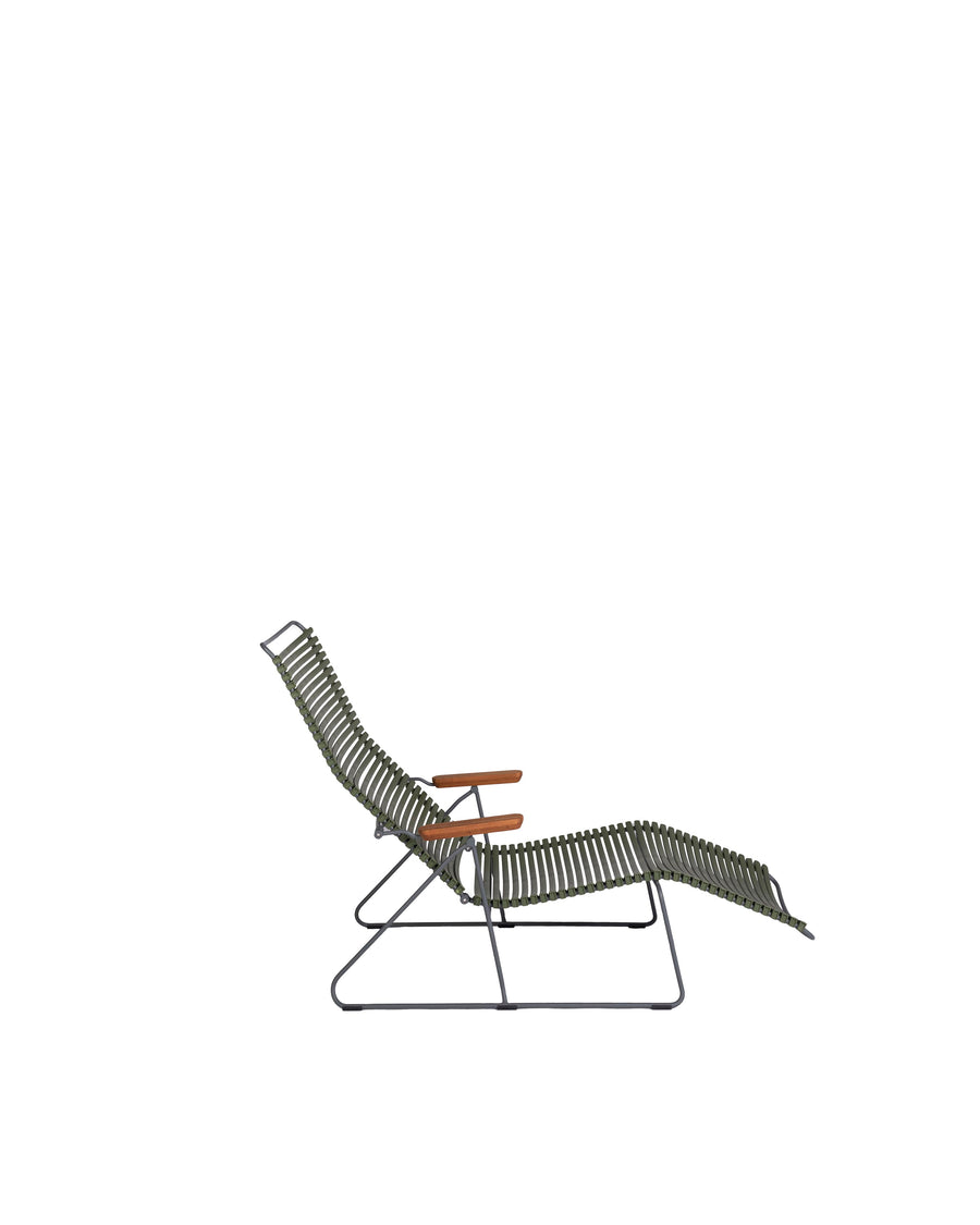 Green Modern Patio Sunlounger Chair | Click | Side View | MoblerOnline