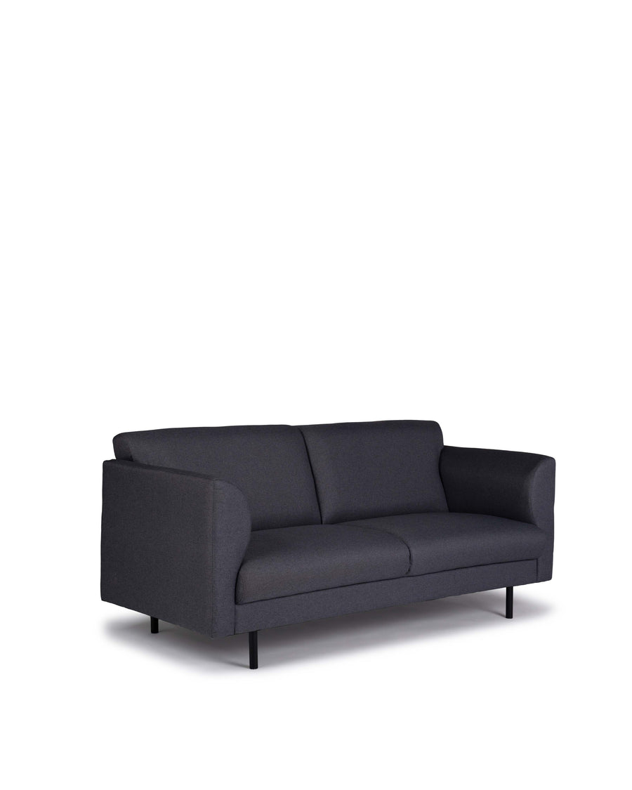Modern Grey Fabric Loveseat | Corinth | Angle View | MoblerOnline