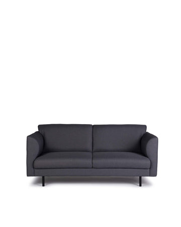 Modern Grey Fabric Loveseat | Corinth | Front View | MoblerOnline