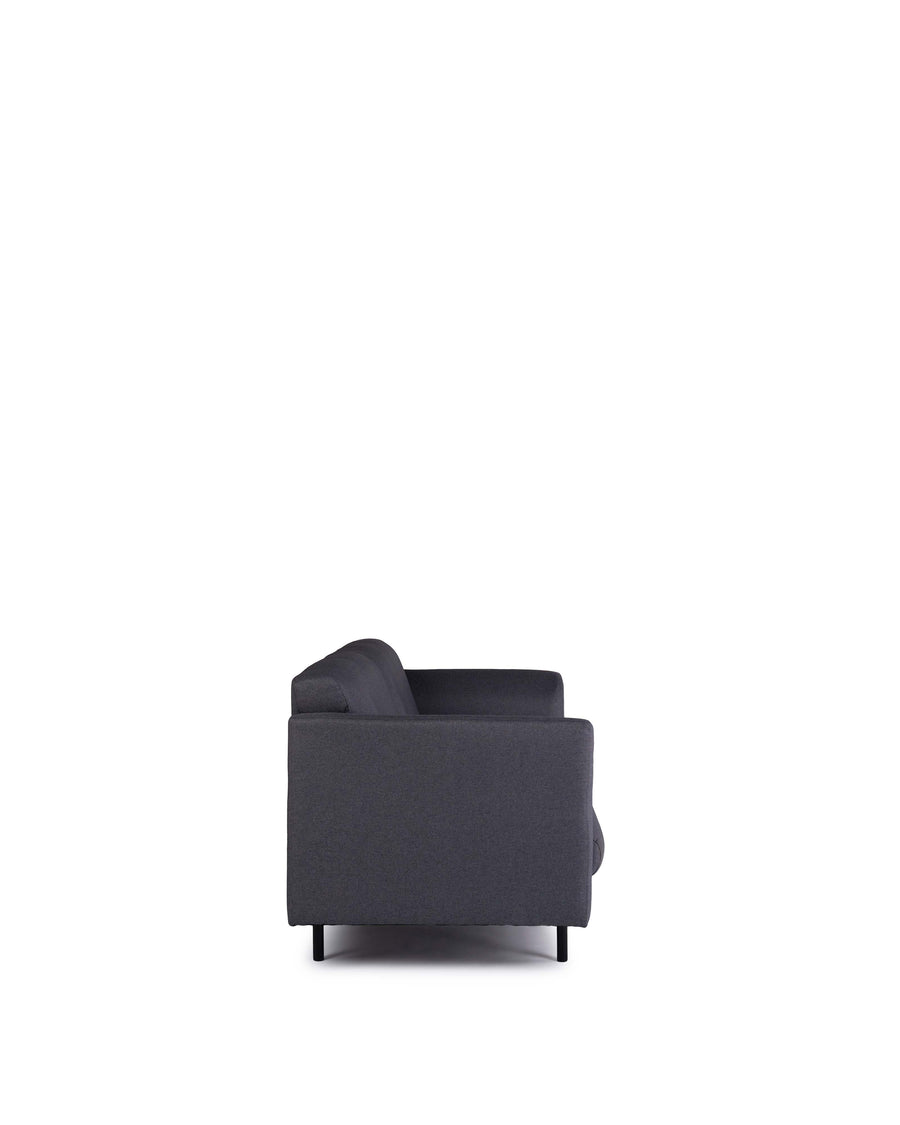 Modern Grey Fabric Loveseat | Corinth | Back View | MoblerOnline