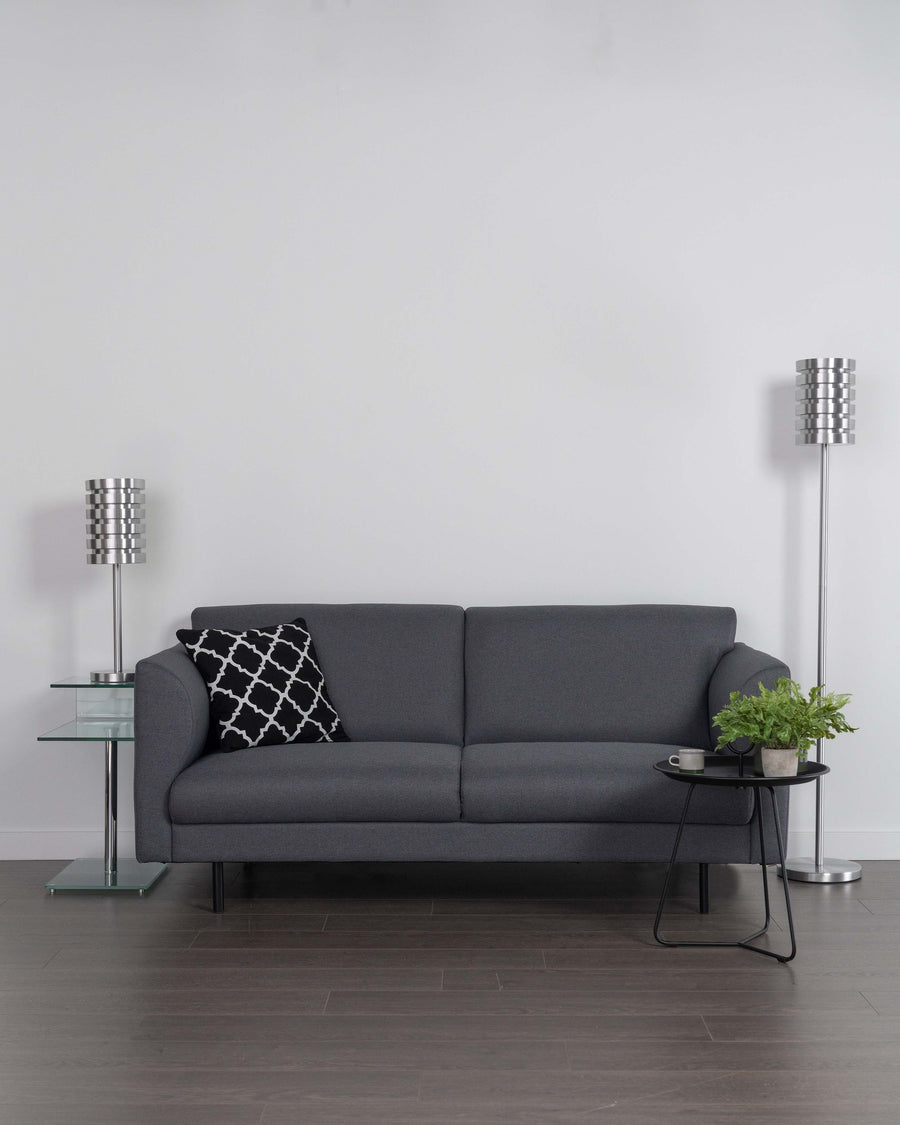 Modern Grey Fabric Loveseat | Corinth | Studio | MoblerOnline