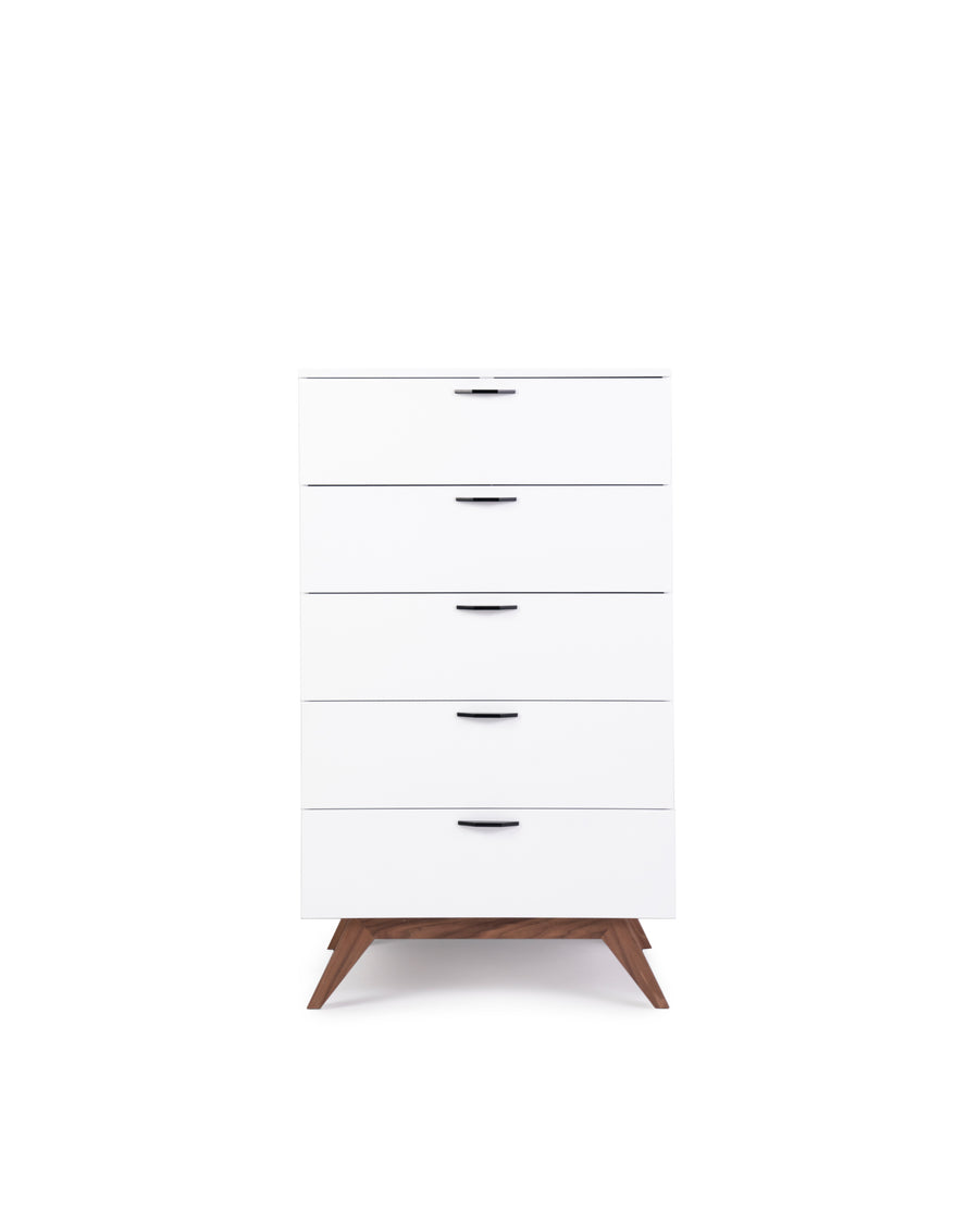 Modern White Tall Dresser | Dahlia | Front View | MoblerOnline