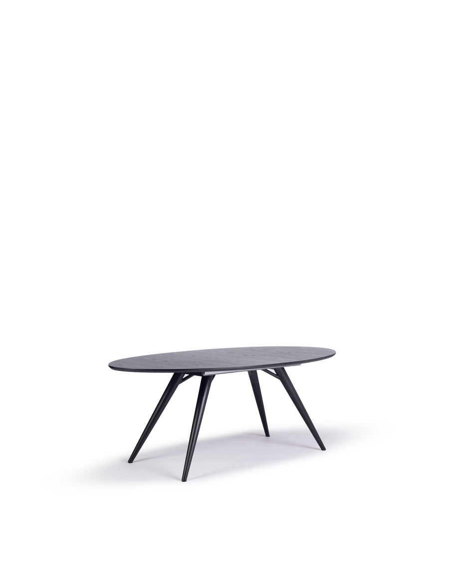 Modern Oval Dining Table | Bunbury-Oval | Angle View | MoblerOnline