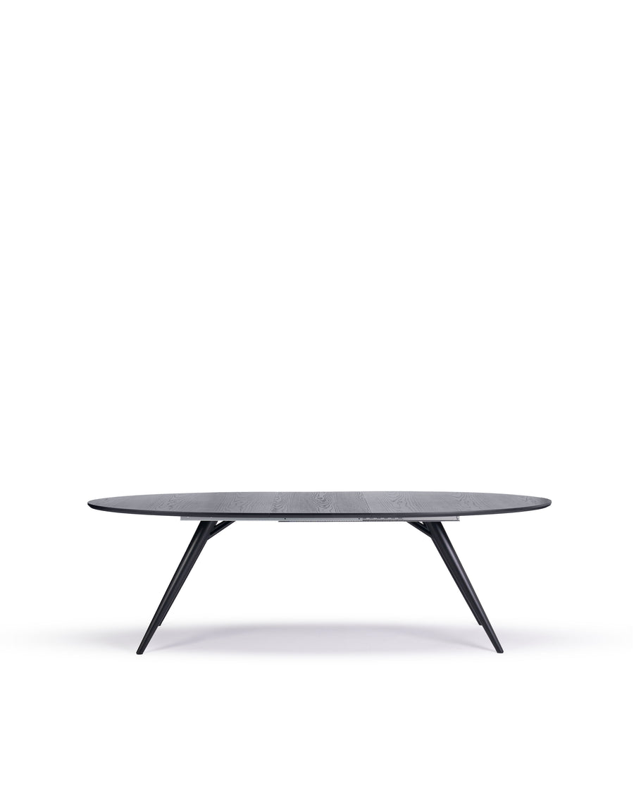Modern Oval Dining Table | Bunbury-Oval | Front Extended View | MoblerOnline