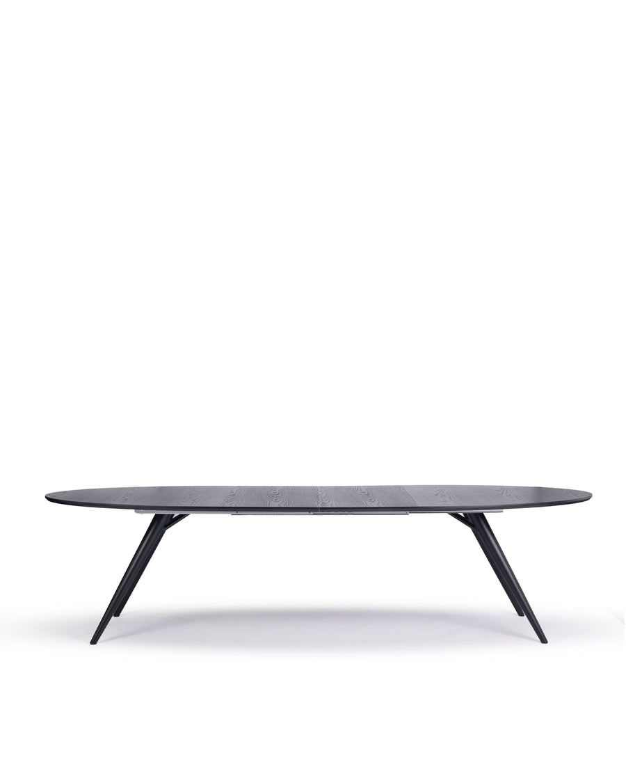 Modern Oval Dining Table | Bunbury-Oval | Front Extended View 2 |  MoblerOnline