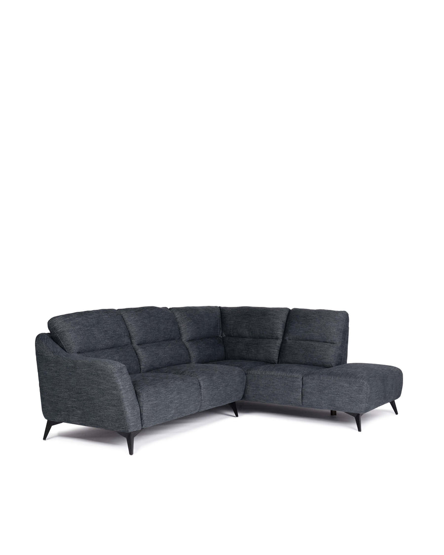 Modern Fabric Sectional With Movable Back | Emerson | Angle View | MoblerOnline