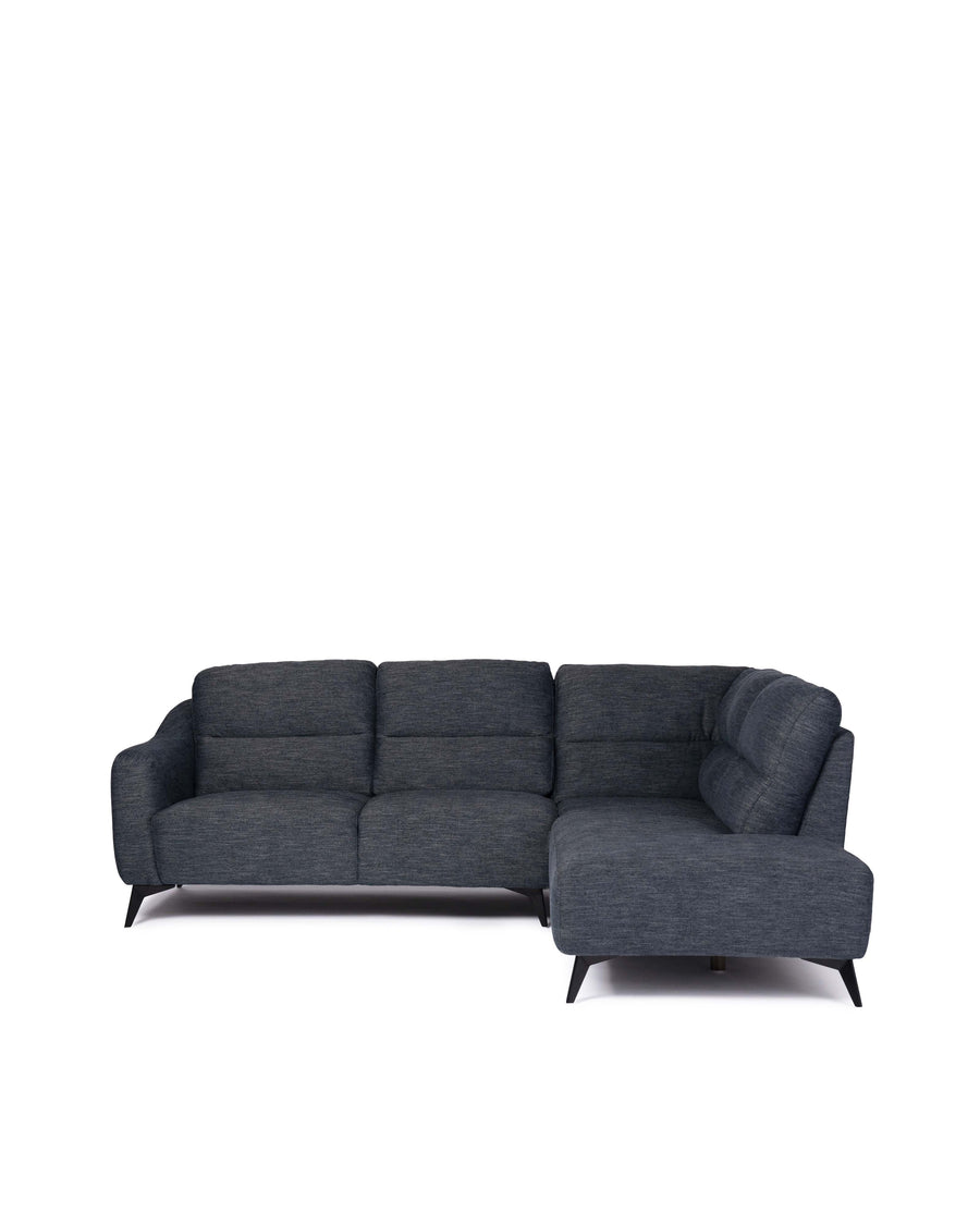 Modern Fabric Sectional With Movable Back | Emerson | Front View | MoblerOnline