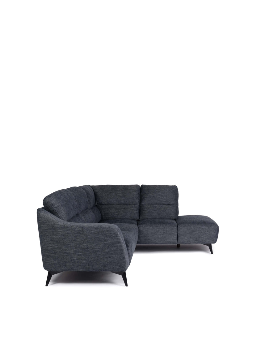 Modern Fabric Sectional With Movable Back | Emerson | Side View | MoblerOnline