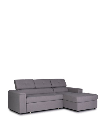 Sectional Sofabed With Built In Wireless Charger | Ezio | Angle Rest Up View |MoblerOnline